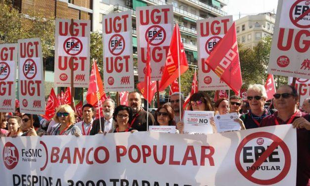 Movilizaciones en la Comunitat Valenciana contra el ERE del Banco Popular