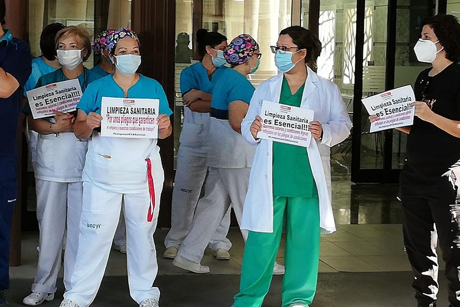 Movilizaciones por los pliegos de limpieza sanitaria de la Comunidad Valenciana