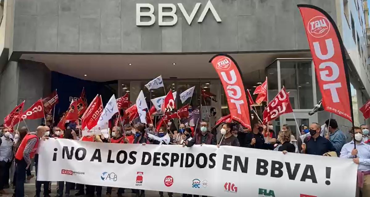 Concentración en Valencia por el ERE en BBVA